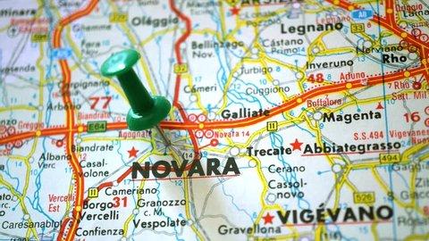 Novara Italy Map.Map Of Novara Stock Video Footage 4k And Hd Video Clips Shutterstock