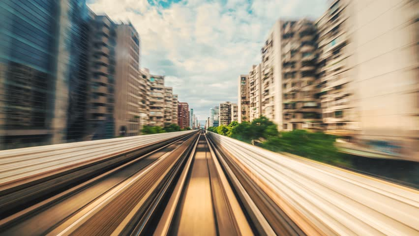 8K Hyperlapse of the Taipei metro in Taiwan.  | Shutterstock HD Video #1015773805