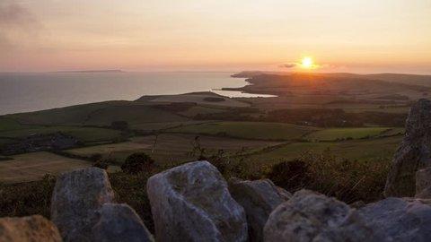 Swyre Head Sunset Motion Time Lapse, Jurassic Coast, Dorset, UK