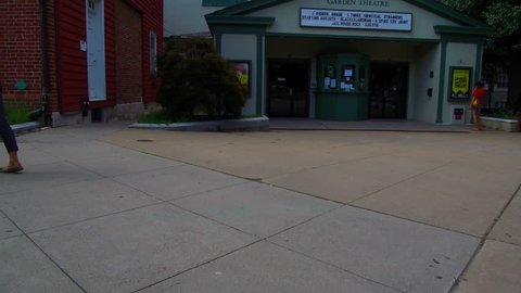 Princeton, NJ / United States - August 12, 2018.   This video shows the Princeton movie theatre in downtown Princeton, New Jersey.