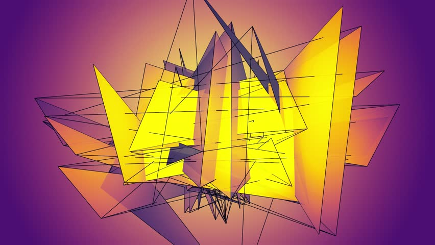 Animation with crystal polygonal surface.   | Shutterstock HD Video #1015945705