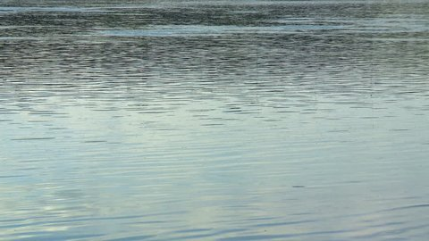 Waters of the North Saskatchewan River reflect the blue sky.