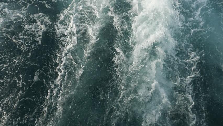 Slow motion,120 fps: Waves after boat #1016017195