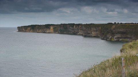 View at Omaha Beach. World War 2 D-day, Normandy France