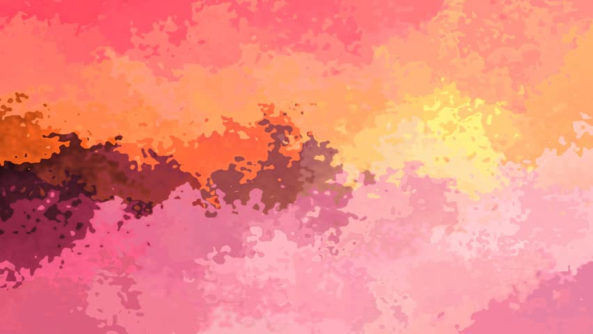 Abstract animated stained background seamless loop video - watercolor effect - cute pink orange yellow and maroon color | Shutterstock HD Video #1016079295