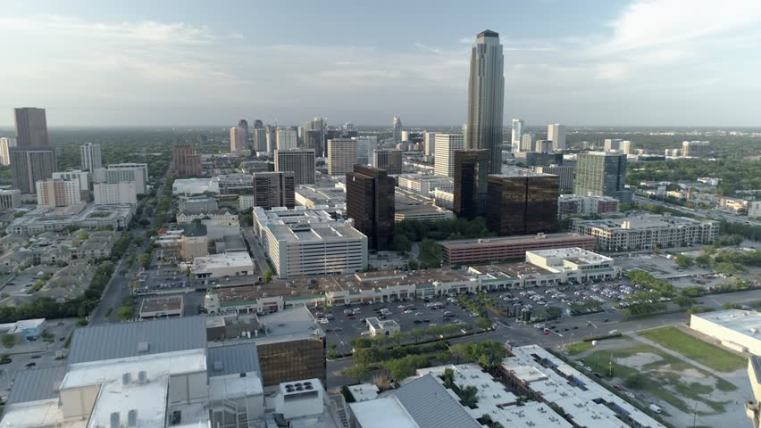 This video is of an aerial the Galleria Mall area in Houston, Texas. This video was filmed in 4k for best image quality.