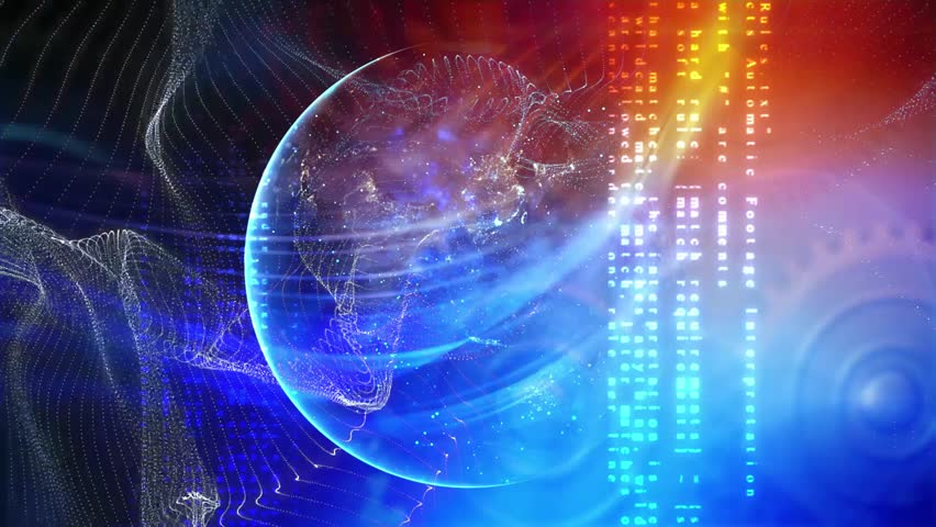 Digital world internet. Communication background | Shutterstock HD Video #1016118025