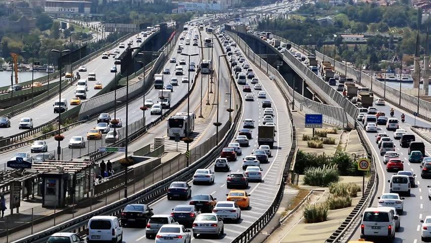 Traffic highway | Europe traffic cars driving.