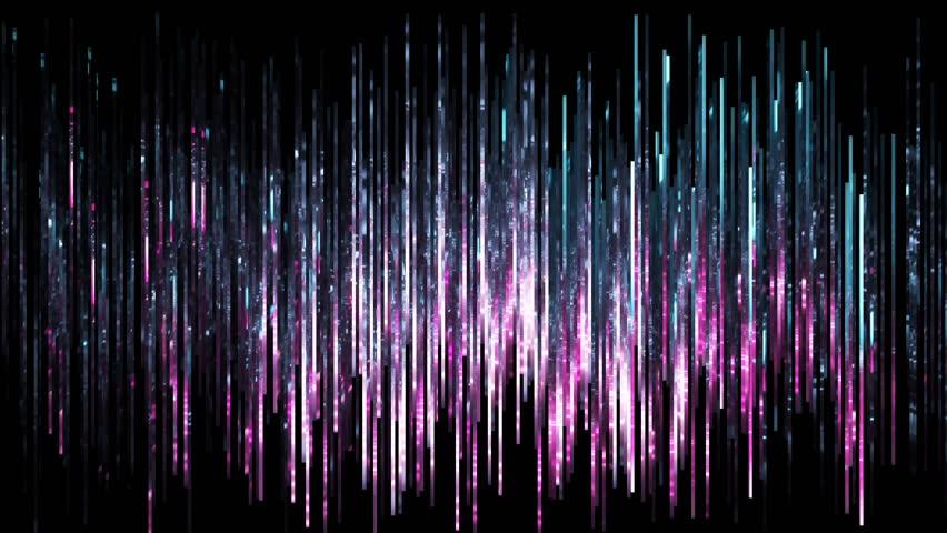 3d render, abstract digital background, vertical lines, sparkling backdrop, noise, equalizer, rain, spectrum. Seamless, loop at 2K resolution. | Shutterstock HD Video #1016240425