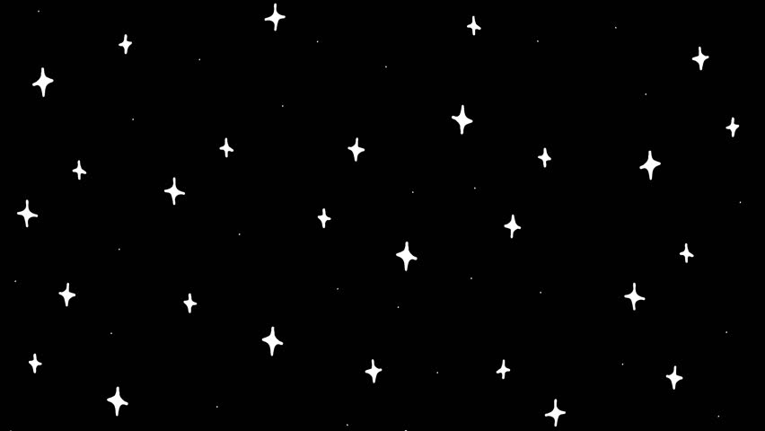 2d animation white stars. Hand drawn space and galaxy. Pre-rendered with alpha channel in a QuickTime(PNG) with 4K resolution. For background video footage tv or digital graphics | Shutterstock HD Video #1016332105