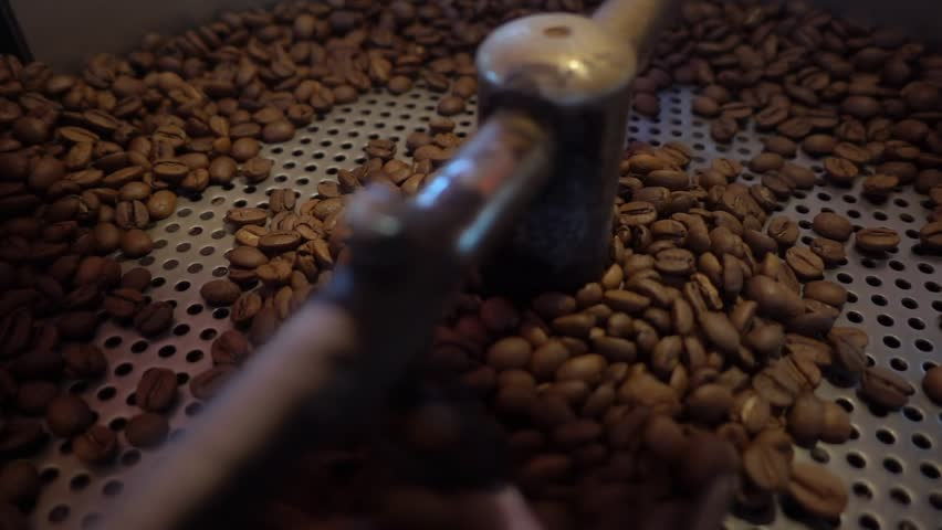 1920x1080 30 Fps. Very Nice True Super Slow Motion 480 Fps. Close Up Coffee Roasting Machine Working With Coffee Beans Video. | Shutterstock HD Video #1016363005