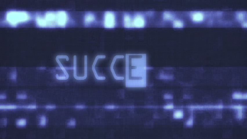success words text typing writing on old glitch computer lcd led tube tv screen display background blinking animation New quality universal vintage motion dynamic animated retro colorful joyful video
