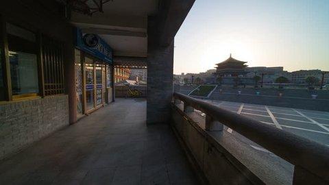 Xian Bell Tower sun rise