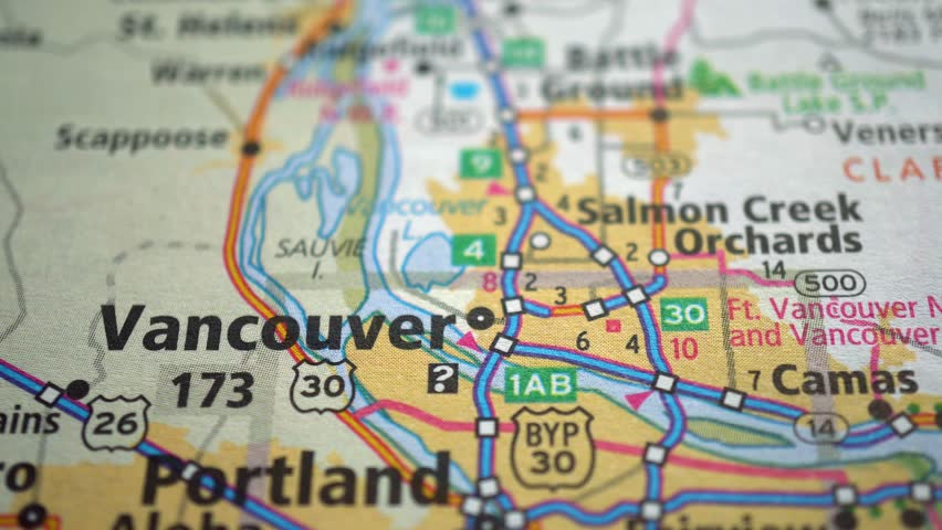 Road Map Of Canada.Vancouver On Canada Road Map Stock Footage Video 100 Royalty Free 1016499235 Shutterstock