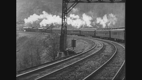 CIRCA 1920s - Marshal Ferdinand Foch travels by train and writes a letter of thanks and leaves New York on a ship.