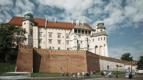Krakow, Poland. Wawel Castle In Summer Day. Famous Landmark. UNESCO World Heritage Site. Fortified Architectural Complex In Cracow, Poland