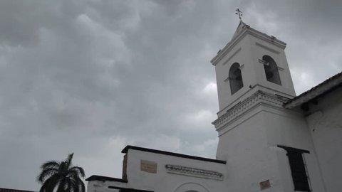 La merced church bell tower in Cali