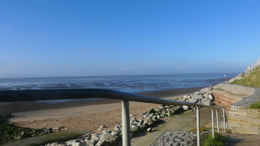 Caldy beach in the Wirral Peninsula shot in the morning.