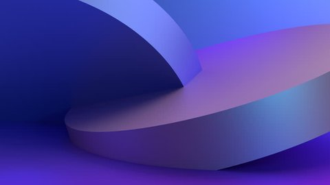 Abstract 3d rendering of rotating geometric shapes. Modern looped animation background. Seamless motion design. 4k UHD