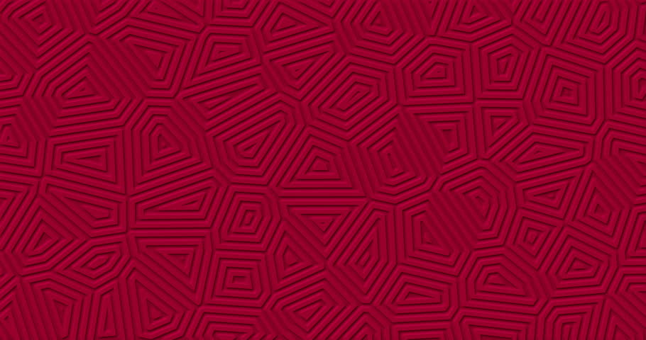 Dark red matte geometric surface background. Random burgundy abstract lines shapes looped move. Stylish minimal modern pure wall. Maroon animation backdrop motion design. Seamless and endless pattern   Shutterstock HD Video #1016714215