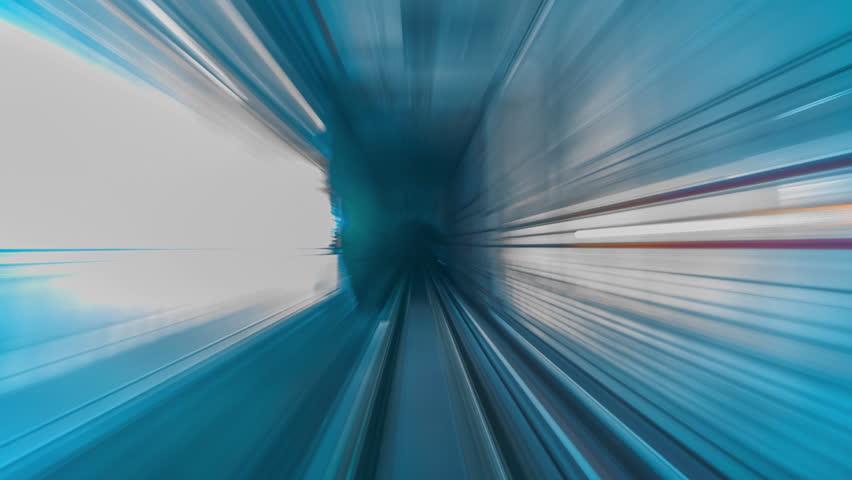 4K.Time lapse Subway tunnel fast speed | Shutterstock HD Video #1016788435