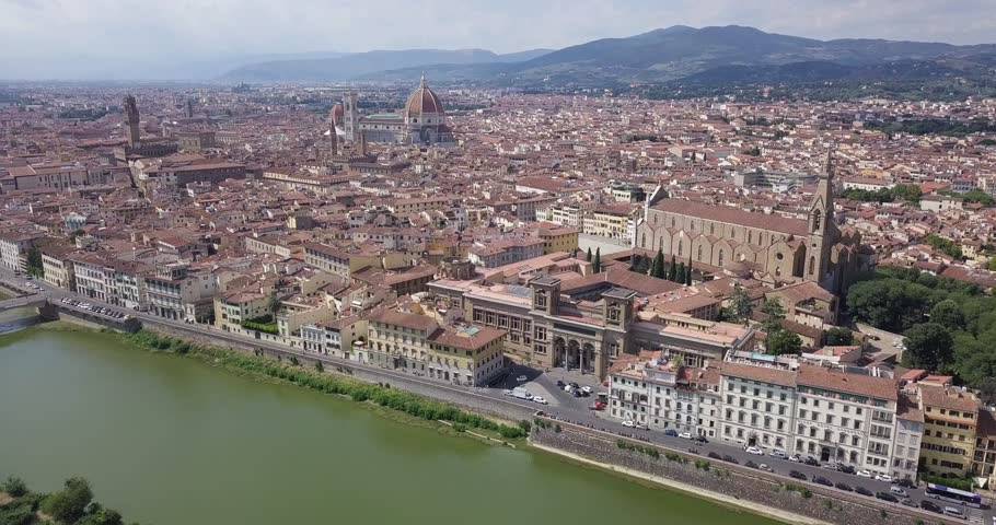 Florence, Italy top of view | Shutterstock HD Video #1016858275