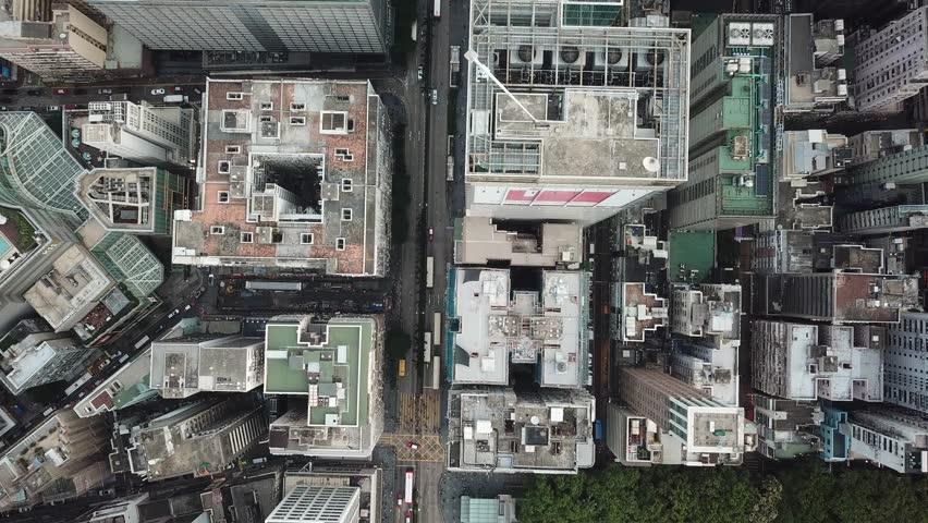 Hong Kong Kowloon aerial footage  | Shutterstock HD Video #1016882665