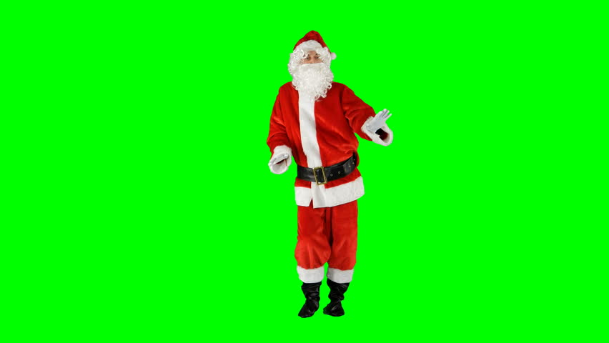 Goofy Christmas Dance by Santa Claus Green Screen #1016945935
