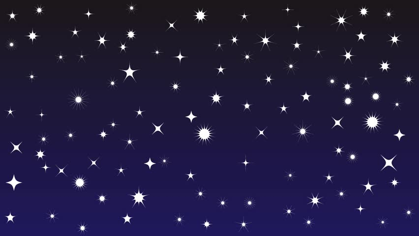Twinkling stars animation, night blue starry sky, with alpha channel. | Shutterstock HD Video #1016957395