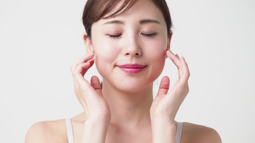 Attractive asian woman skincare video footage | Shutterstock HD Video #1016970865