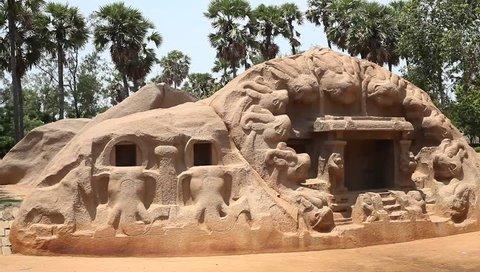 Tiger cave temple, Mamallapuram, India