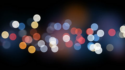 Night City Lights Bokeh Beautiful Backdrop Seamless. Looped 3d Animation of Colorful Blinking Lights in DOF Blur. 4k Ultra HD 3840x2160.