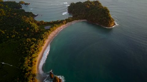 Aerial view of Manuel Antonio National Park in Costa Rica.