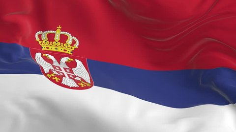 waving a looped flag as a background Serbia