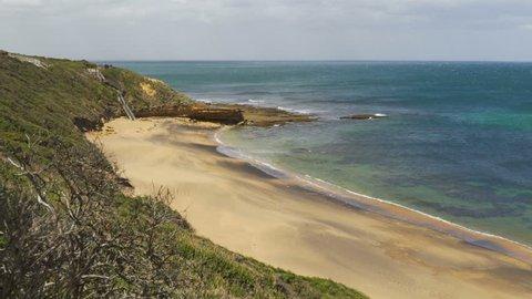 Beautiful beach in Torquay in the summer, Australia