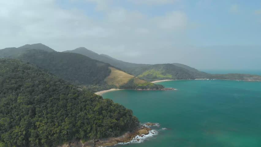 Drone flying beach reveal | Shutterstock HD Video #1017645835