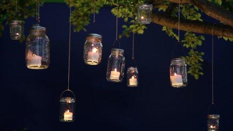 1000 Mason Jar Light Stock Video Clips