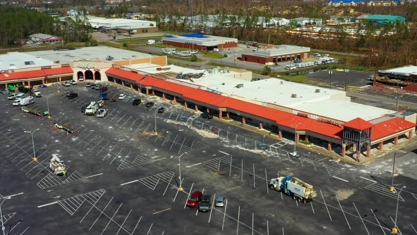 Shopping center Panama City destroyed by Hurricane Michael