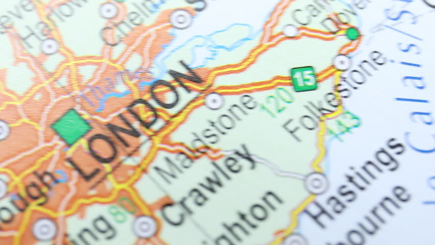 Map from the top, moving from London to Roma, foreign affairs | Shutterstock HD Video #1018195075