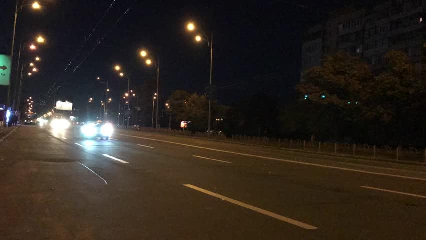 Time lapse. Night road. Kiev. Ukraine.    Shutterstock HD Video #1018211575
