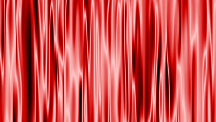 The computer creates a red curtain reflecting light.