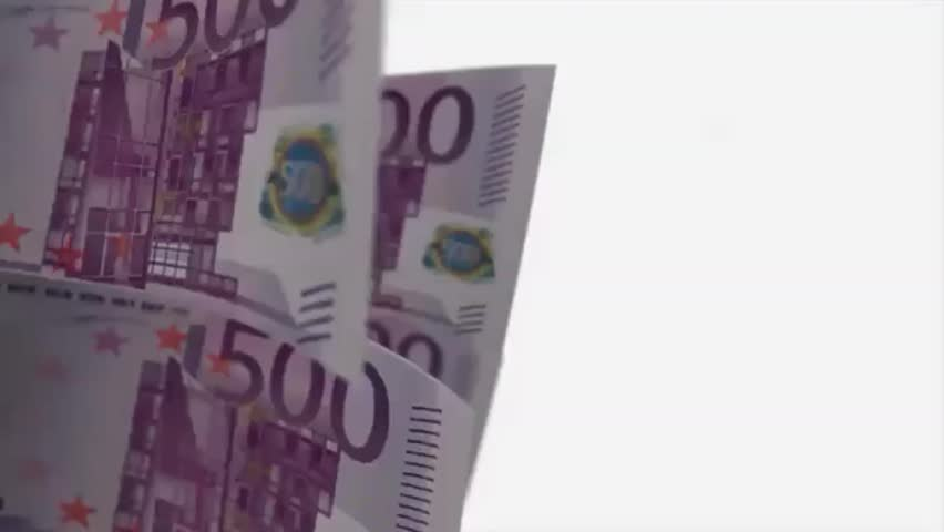 500 euro cash account on a white background with alpha channel   Shutterstock HD Video #1018272745