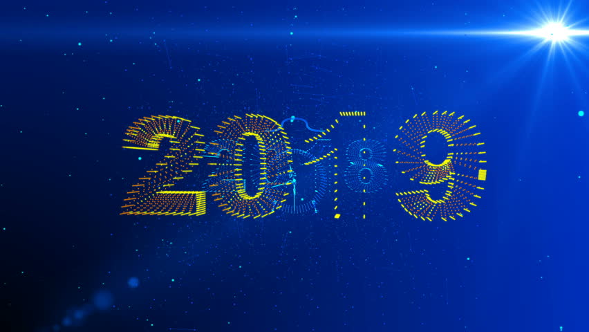 New Year's conceptual animation, camera movement in the space between the symbols of 2018 and 2019, alpha channel | Shutterstock HD Video #1018508095