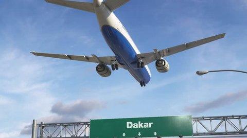 Airplane Landing Dakar