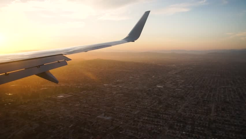 A view from a plane window while flying over Los Angeles, CA. #1018597045