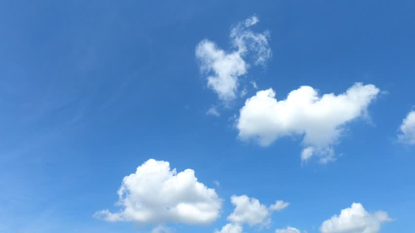 Time lapse,sky beautiful cloud scape white fluffy clouds over blue sky. #1018962145