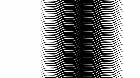 Abstract flowing lines graphic slow motion black and white background pattern