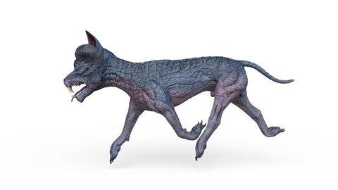 3D CG rendering of monster dog