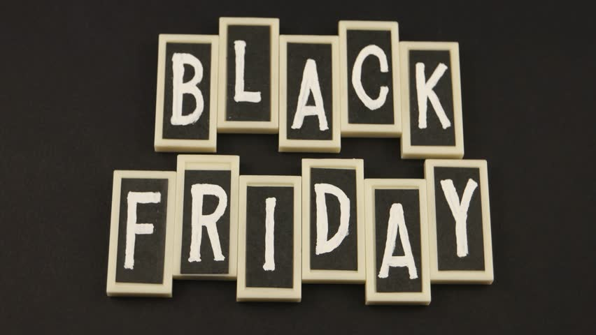 Black Friday and sale, message on the black background   Shutterstock HD Video #1019224825