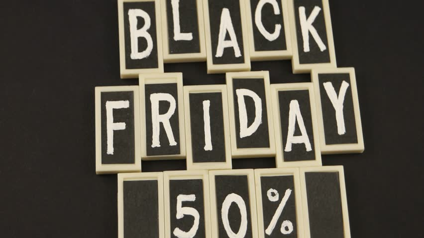 Black Friday, message on the black background | Shutterstock HD Video #1019224855